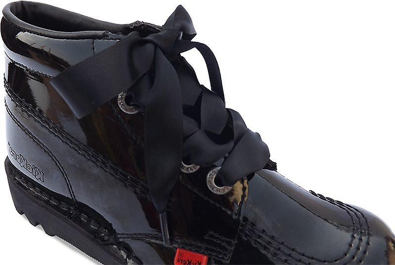 Black Kicker Satin Ribbon Laces