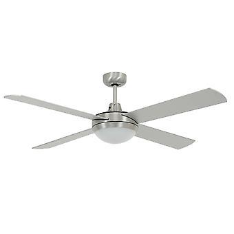 """LED Ceiling Fan Futura Mood Chrome 132cm / 52"""""""