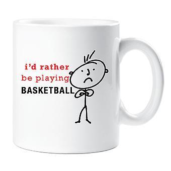 I'd Rather Be Basketball Mug