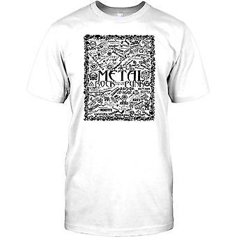 Metal Rock en Punk legendes - muzikale Collage Mens T Shirt