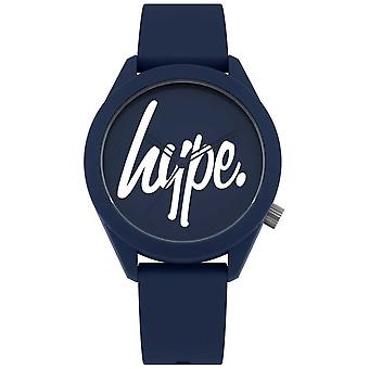 Hype | Mens Blue Silicone Strap | Blue And White Dial | HYG001U Watch
