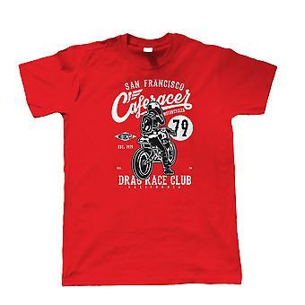 Cafe Racer 79, Herren T Shirt - klassische Motorräder Drag Race Biker Club Geschenk ihm
