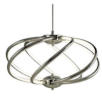 Bardot Chrome sieben Arm LED Pendelleuchte - Searchlight 6500-7CC