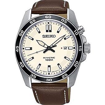 Seiko analog klocka automatisk herrklocka med läder SKA787P1