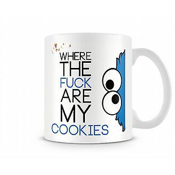 Decorativos de escrita onde os F**k são a minha caneca de texto impresso de Cookies