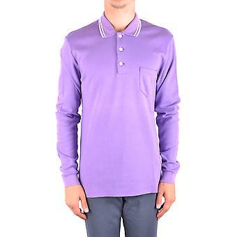 Marc Jacobs Ezbc062051 Uomo's Camicia Polo in cotone viola