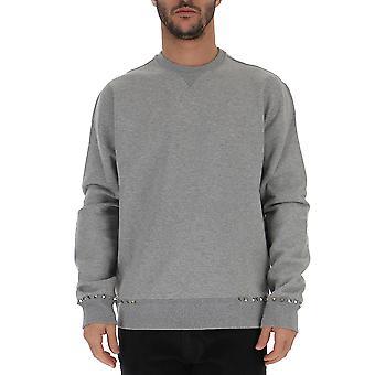 Valentino Rv3mf03u3tv080 Hombres's Sudadera de algodón gris
