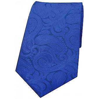 Cravatta di seta Paisley lusso di David Van Hagen - blu
