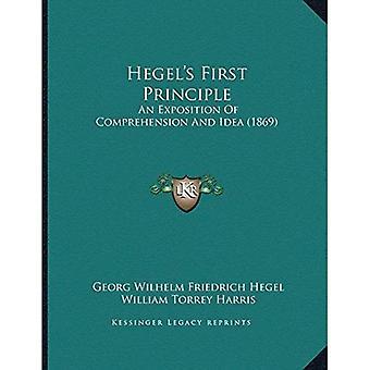 Hegela Acentsacentsa A-Acentsa Acentss første prinsipp: En utredning av forståelse og IDE (1869)