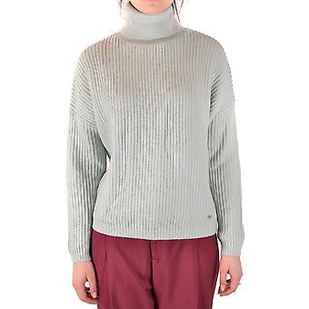 Elisabetta Franchi Ezbc050180 Women's Light Blue Polyester Sweater