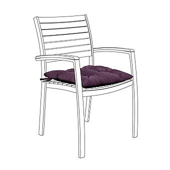 Gardenista® Water Resistant Purple Tufted Chair Seat Cushion