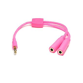 Incredi-cables câble répartiteur audio 3,5 mm-Rose (modèle No. INC-235S-P6PK)