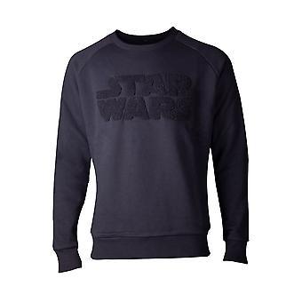 Star Wars Bluza Imperium Kontratakuje Chenille Mens Sweter Czarny Medium