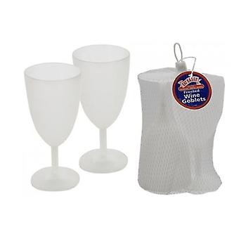 Essen Easee - Frosted Plastic Wine Goblets