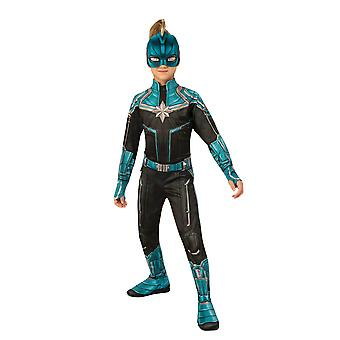 Child Captain Marvel drakt