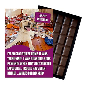 Yellow Labrador Retriever Birthday Gifts for Dog Lover Boxed Chocolate Greeting Card Present