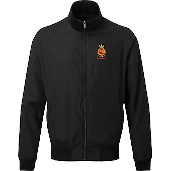 RMAS Royal Military Academy Sandhurst Name - Licensed British Army Embroidered Harrington Jacket