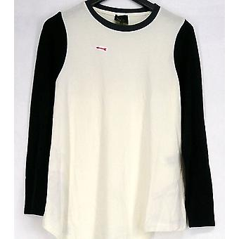 Serena Williams Color Block Cream Avorio / Nero Tunic Maglione 365-680