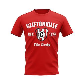 Cliftonville etabliert Fußball T-Shirt (rot)