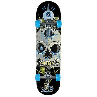 Xootz Kid-apos;s Snake Skull Complete Beginners Double Kick Trick Skateboard - Maple Deck, 31 x 8 pouces