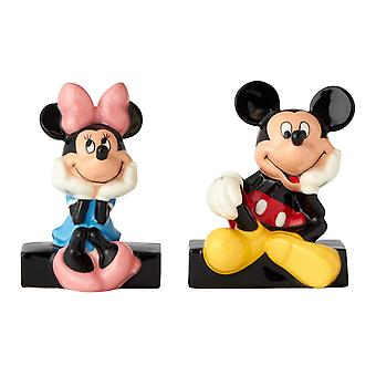 Mickey and Minnie Mouse Salt and Pepper Shakers Licensed Ceramic
