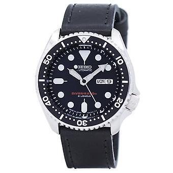 Seiko automaattinen sukeltaja ' s suhde musta nahka Skx007j1-LS8 200m miesten ' s Watch
