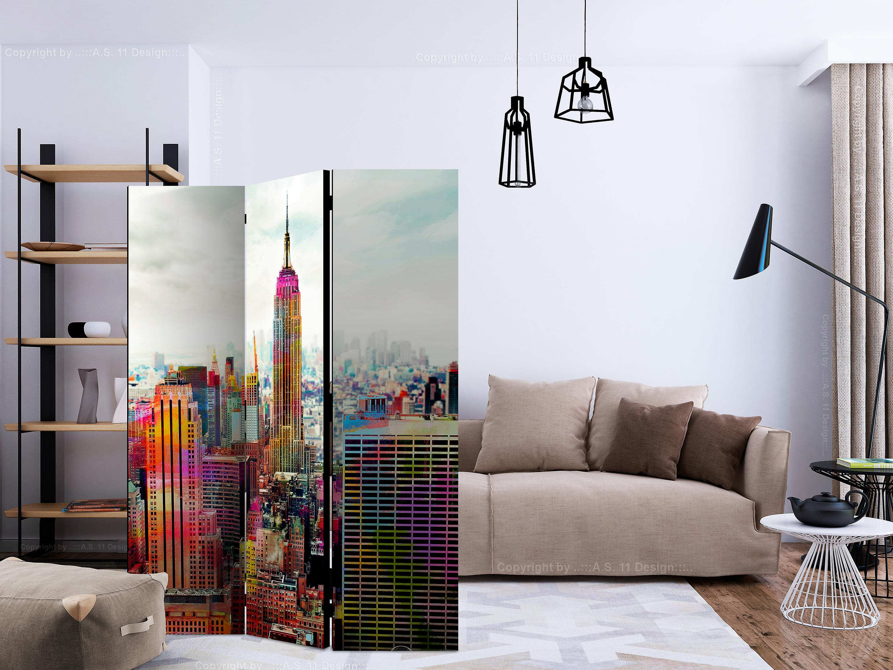Paravent 3 volets - Colors of New York City [Room Dividers]
