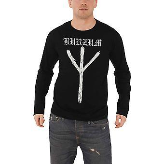 Burzum T Shirt Rune band logo new Official Mens Black Long Sleeve