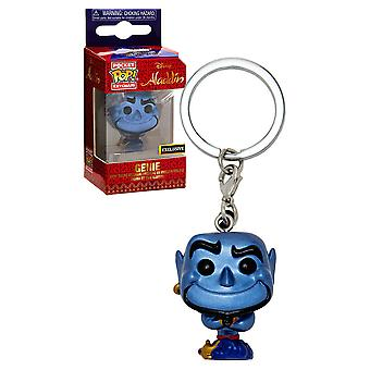 Aladdin Genie Metallic US Exclusive Pocket Pop! Keychain