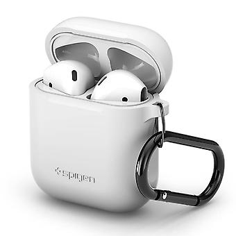Sac spigen-White Silicone Case pour Apple AirPods