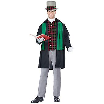 Holiday Caroler Man Christmas Victorian Olden Day Nativity Adult Mens Costume