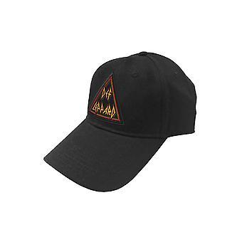 Def Leppard Baseball Cap Tri Band Logo new Official Black Strapback