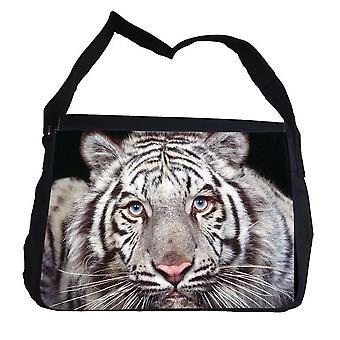 Witte tijger tas met schouderriem schoudertas