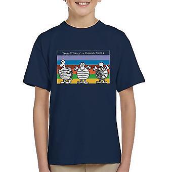 Krazy Kat Rainbow Turtle Kid's T-Shirt