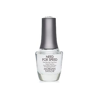 Morgan Taylor Need For Speed Fast Dry High Shine Long Lasting Nail Top Coat