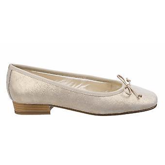 Riva Womens/Ladies Fiastra Printed Suede Slip On Ballerina Pumps
