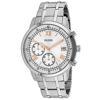 Guess Men's Summit Silver Dial Watch - W1001G1