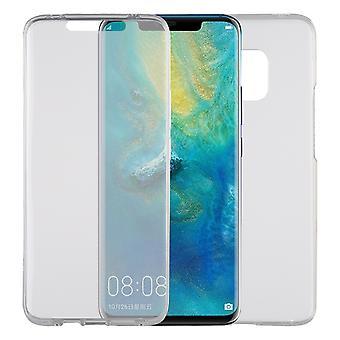 Huawei Mate 20 Pro Hülle Case 360 Handy Schutz Tasche Cover Full TPU Etui Transparent