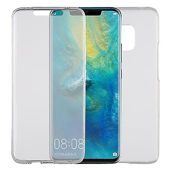 Huawei mate 20 Pro zaak Case 360 telefoon bescherming gevaldekking van de volledige TPU Case transparant