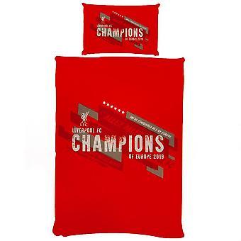 Liverpool FC Champions of Europe Duvet sæt
