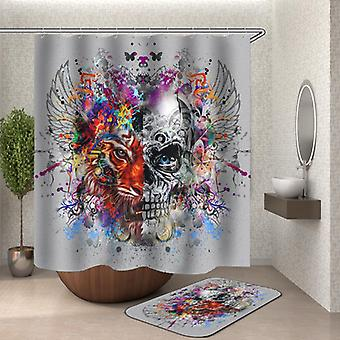Crazy Colorful Mix Skull And Tiger