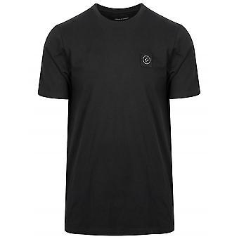 Marshall Artist Black Garment Dyed Short-Sleeved T-Shirt