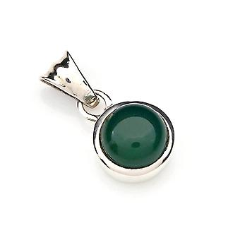 Kettinghanger Amulet Silver 925 Sterling Silver Green Onyx Green Stone (Nee: MAH 97-14)