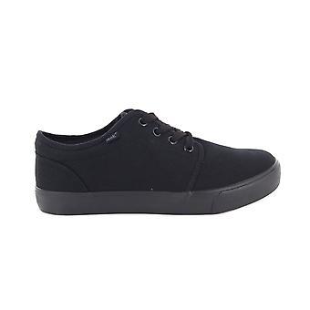 Dek Boys 4 Eye Black Canvas Deck Shoes
