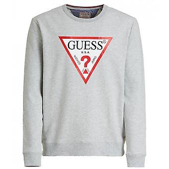 GUESS Grey Triangle Logo Sweatshirt
