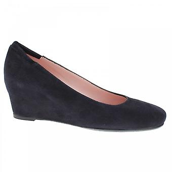 Peter Kaiser Oldna Navy Suede Wedge Court Shoe