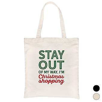 Christmas Shopping Cute Holiday Canvas Bag X-mas Present