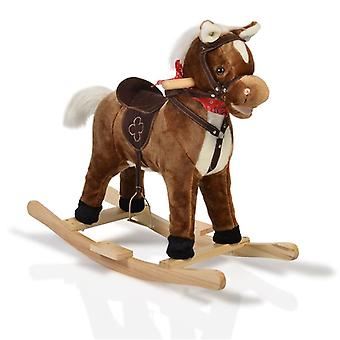 Rocking Horse Plush Chipper WJ-001 Skids, Saddle, Stirrup e Music Function