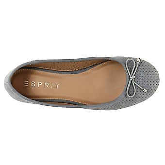 Esprit Women's Orly Closed Round Toe Slip-On Perforated Bow Ballet Flat