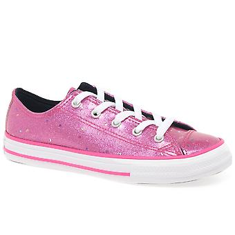 Converse All Star 1V Galaxy Glimmer Oxford Girls Junior Canvas Shoes